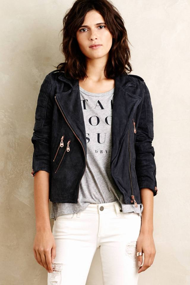Oxford Leather Moto Jacket by Doma