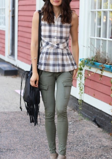 Crossed Plaid Tank by Tylho