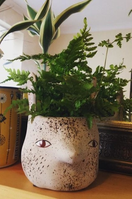Forest Critter Garden Pot by Sarah Burwash