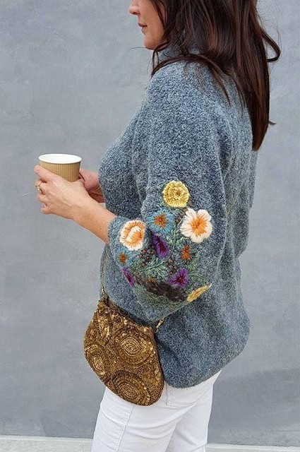Rosevine Sweater Tunic by Sleeping on Snow