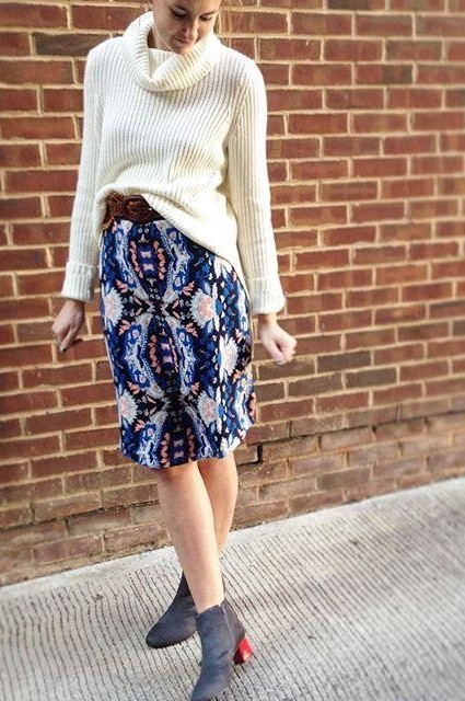 Antica Sweater Skirt by Moth