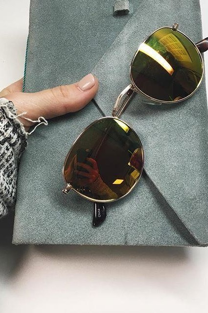 Keyhole Round Sunglasses by Ray-Ban