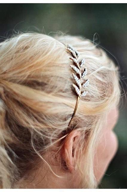 Pearl Leaf Headband
