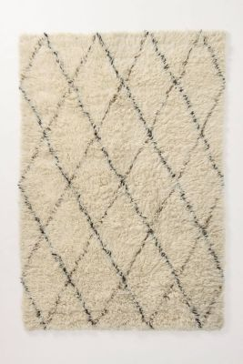 Anthropologie diamond rug