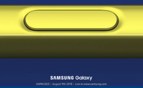 Samsung Galaxy Note 9 launch on August 9