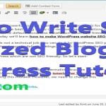 How to Write SEO Optimized Blog Post