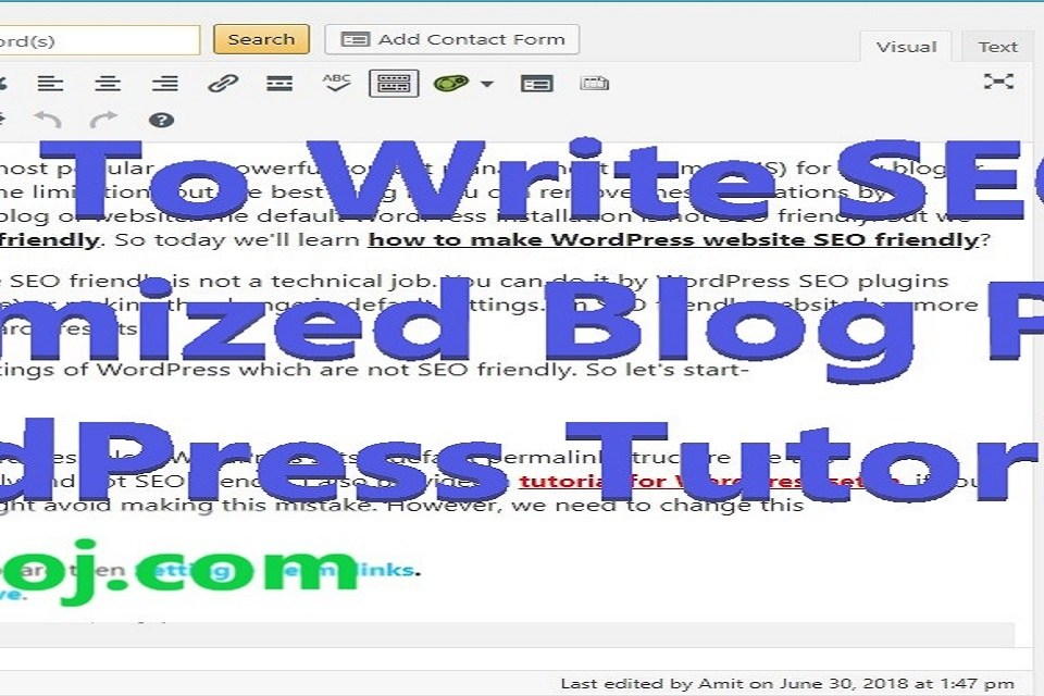 How to Write SEO Optimized Blog Post