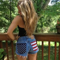 DIY American Flag Cutoffs