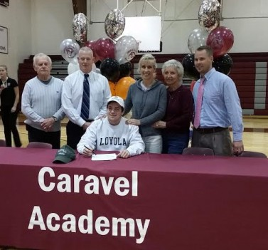 Jake with Coach McCommons and family