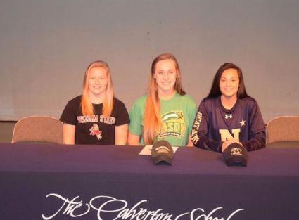 The Calverton School (MD) Emma Carlson Arizona State; Olivia O'Brien George Mason; Jade Torres Navy