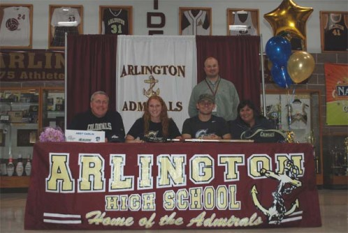 abbycarlin10 of  Arlington (NY)  signs NLI to play at George Washington University