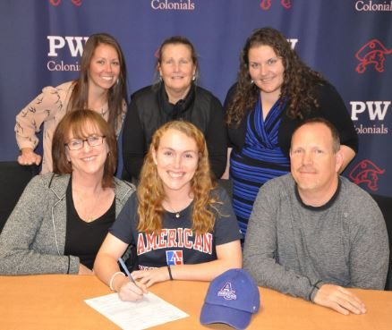 PWHS_CSD @errilly Sr. Cate Golden for signing to play at @AU_Lacrosse