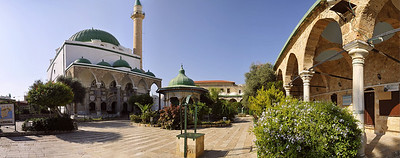Panorama of the El-Jazzar mosque