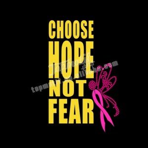 heat vinyl transfer choose hope not fear hot fix ribbon rhinestone motif
