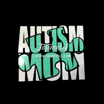 Autism Mom glitter heat transfer vinyl for clothing wholesale