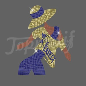 iron on transfer from Appliques Afro Girl Crystal Motifs