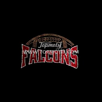 Bling Falcons Iron on Rhinestone Hot Fix Transfer Designs