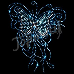 Hot fix motif butterfly rhinestone designs