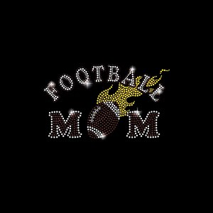 Iron On Transfer Football Mom Bling Custom T Shirts Rhinestone Designs