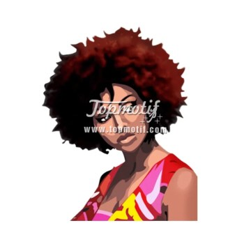 Custom design shirt of Afro Girl hot press printing