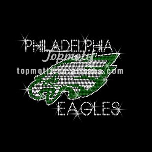hotfix motif eagles logo iron on rhinestone embellishment design