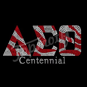 Rhinestone Iron-On AEO centennial Crystal Hot Fix Transfers For Tee