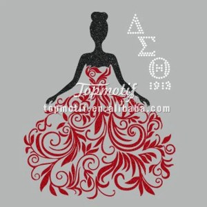Beauty Girls Shirts Delta Sigma Theta Princess Iron On Custom Glittle Printing Transfers