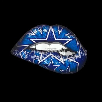 Dallas Cowboys lips heat transfer vinyl t shirt sticker
