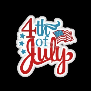 Fourth of July vinyl heart Transfer design for United States