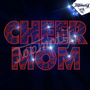Hot sale Cheer Mom iron on transfer for bling garment