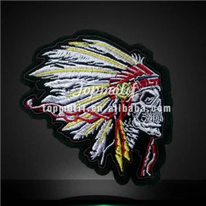 Symbol Skull Embroidery Iron on Patch for Garments