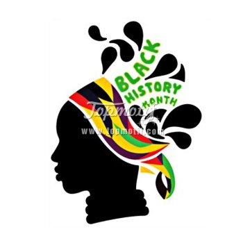 Afro Girl black history heat transfer vinyl sheets for shirt