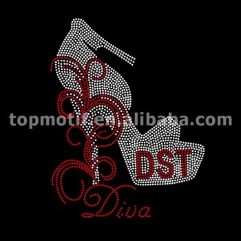 Wholesale Iron On DST DIVA Rhinestone Hot Fix Transfers