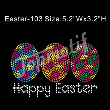 Happy Easter Rhinestone Iron On Transfer Easter Hot Fix Rhinestone