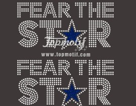 fear the star cowboys rhinestone bling embellished T-Shirt