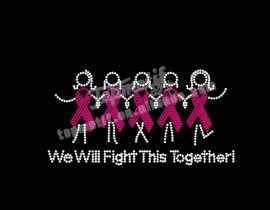 we will fight this together ribbon heat rhinestone transfers designs