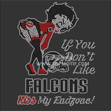 Falcons Rhinestone Templates Free Custom Design Ts Transfer