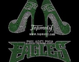 Heat transfer rhinestones Eagles iron on high heels for clothing
