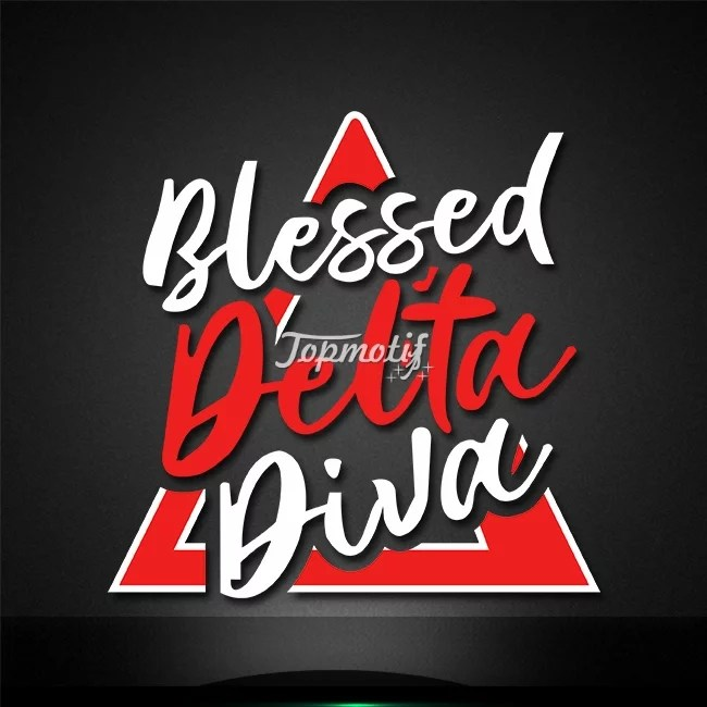 Blessed Delta Diva Heat Press Transfer Logo For Tee