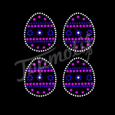 Wholesale Easter Egg Motif Rhinestone Trimming For T Shirt