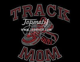 wholesale bling bling track mom heat press transfers