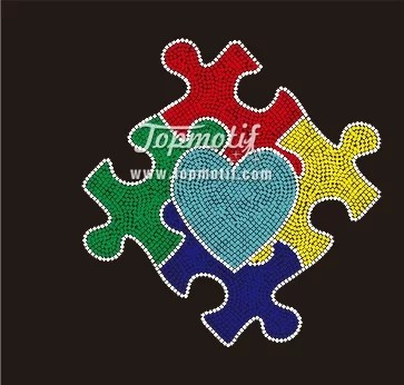 Wholesale autism awareness pattern design of shirt