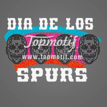Spurs Rhinestone Transfers For clothes