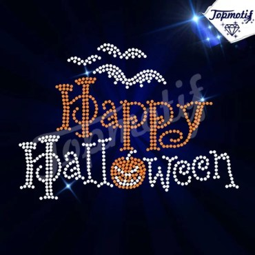 Bling Halloween Iron On Rhinestone Transfer Wholesale
