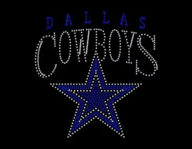 rhinestone iron on cowboys heat transfer
