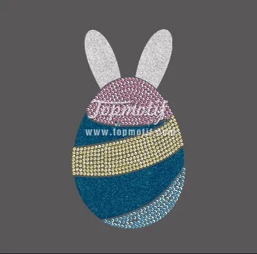 Easter Rhinestone Designs glitter iron on clothing