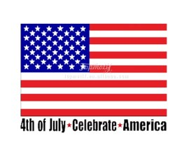 Hot fix 4th of July celebrate United States vinyl heart Transfer