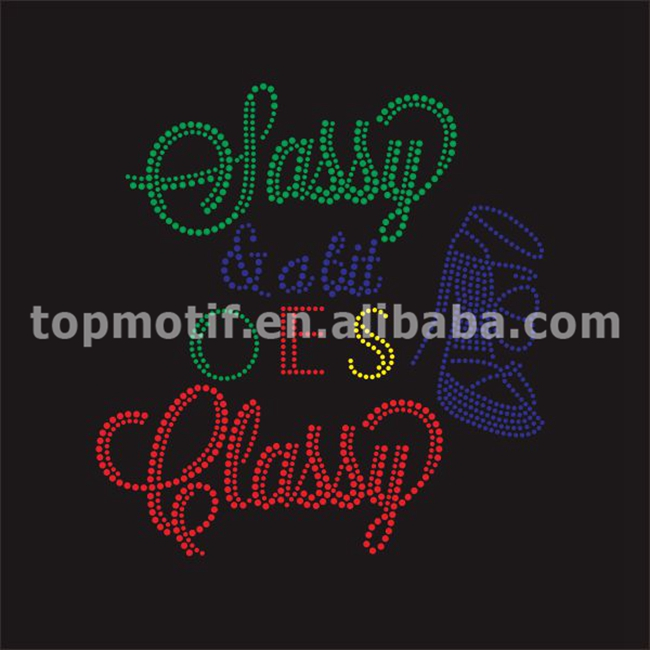 OES rhinestone heat transfers for t shirts