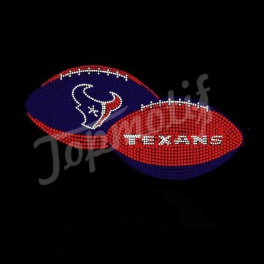 Bling Rhinestone Transfer Wholesales Texans Hotfix