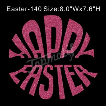 Happy Easter Iron On Glitter Transfer Wholesale T-Shirts Transfers